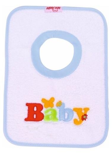 Sevi Bebe Sevi Bebe Yakalı Havlu Önlük   Beyaz